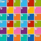 Projeto de Boardgame com números nos blocos ilustração do vetor