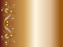 Projeto de canto floral para o casamento ilustração stock