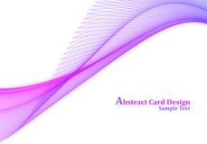 Projeto de cartão abstrato Fotografia de Stock Royalty Free