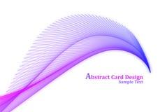 Projeto de cartão abstrato Fotografia de Stock
