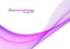 Projeto de cartão abstrato Imagens de Stock Royalty Free