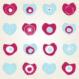 Projeto de cartão com corações ilustração stock