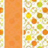 Projeto de cartão com o ponto de polca colorido Imagem de Stock Royalty Free