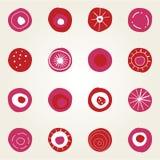 Projeto de cartão com pontos Imagens de Stock
