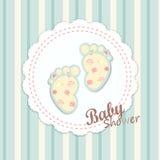 Projeto de cartão da festa do bebê Imagem de Stock Royalty Free