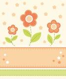 Projeto de cartão da flor Imagem de Stock Royalty Free