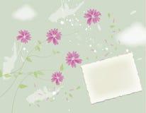 Projeto de cartão da flor Fotografia de Stock Royalty Free