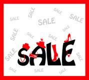 Projeto de cartão da venda Foto de Stock