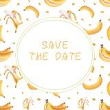 Projeto de cart?o das bananas ilustração royalty free