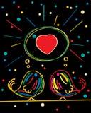 Projeto de cartão do amor Imagem de Stock