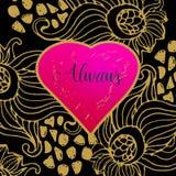 Projeto de cartão do amor Fotografia de Stock Royalty Free