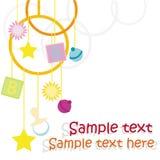 Projeto de cartão do bebê Fotos de Stock Royalty Free
