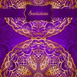 Projeto de cartão do convite Imagens de Stock