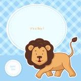 Projeto de cartão do convite da festa do bebê Imagem de Stock Royalty Free
