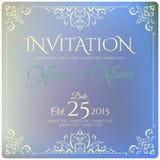 Projeto de cartão do convite Ilustração do vetor Fotos de Stock
