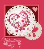Projeto de cartão do dia de Valentim ilustração royalty free