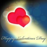 Projeto de cartão do dia de Valentim Fotos de Stock