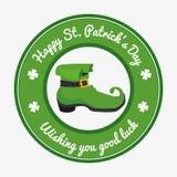 Projeto de cartão do dia dos patricks do St, ilustração do vetor Foto de Stock Royalty Free