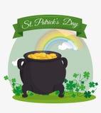Projeto de cartão do dia dos patricks do St, ilustração do vetor Imagens de Stock Royalty Free