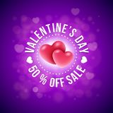 Projeto de cartão do dia de Valentim Fotos de Stock Royalty Free