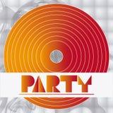 Projeto de cartão do disco do partido ilustração stock