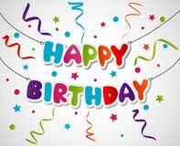Projeto de cartão do feliz aniversario Imagens de Stock