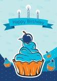 Projeto de cartão do feliz aniversario Imagens de Stock Royalty Free