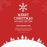 Projeto de cartão do Feliz Natal Fotografia de Stock