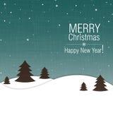 Projeto de cartão do Feliz Natal e do ano novo feliz ilustração stock