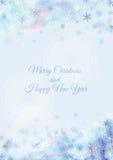 Projeto de cartão do Feliz Natal e do ano novo feliz Foto de Stock