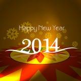 Projeto de cartão do feriado do ano novo feliz da celebração Fotos de Stock Royalty Free