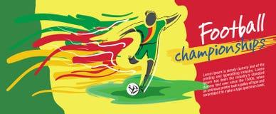 Projeto de cartão do futebol, vetor do futebol Fotografia de Stock Royalty Free