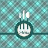 Projeto de cartão do menu Imagens de Stock