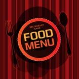 Projeto de cartão do menu do restaurante Fotos de Stock Royalty Free