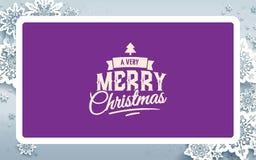 Projeto de cartão do Natal ilustração royalty free