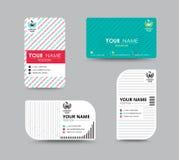 Projeto de cartão do nome da empresa para o corporaçõ Carde o molde Vetor Imagem de Stock Royalty Free