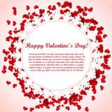 Projeto de cartão do Valentim Fotografia de Stock Royalty Free