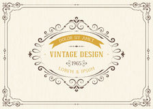 Projeto de cartão do vintage Fotografia de Stock
