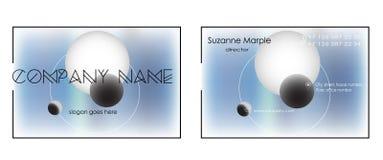 Projeto de cartão em um fundo abstrato com aproximação criativa do cartão dos planetas Imagem de Stock