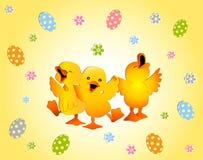 Projeto de cartão feliz de Easter Fotografia de Stock