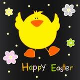 Projeto de cartão feliz de Easter ilustração royalty free
