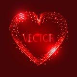 Projeto de cartão feliz do dia de Valentim Fundo do vetor Imagem de Stock Royalty Free