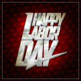 Projeto de cartão feliz do Dia do Trabalhador Fotos de Stock Royalty Free
