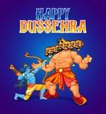 Projeto de cartão feliz do dussehra Ilustração dos desenhos animados para o Du ilustração stock