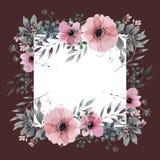 Projeto de cartão floral do convite ilustração do vetor