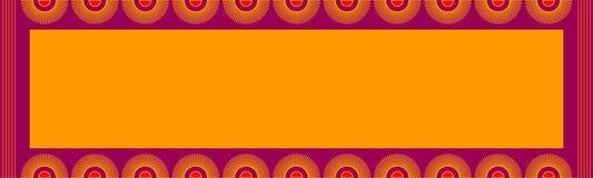 Projeto de cartão indiano Fotografia de Stock