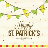 Projeto de cartão para a celebração do dia de St Patrick ilustração stock