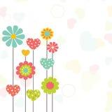 Projeto de cartão para a celebração do dia de Valentim Fotografia de Stock Royalty Free