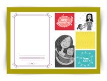 Projeto de cartão para a celebração feliz do dia de mãe Fotos de Stock Royalty Free