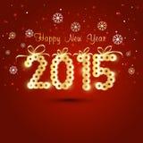 Projeto de cartão para celebrações do ano novo feliz Fotos de Stock Royalty Free